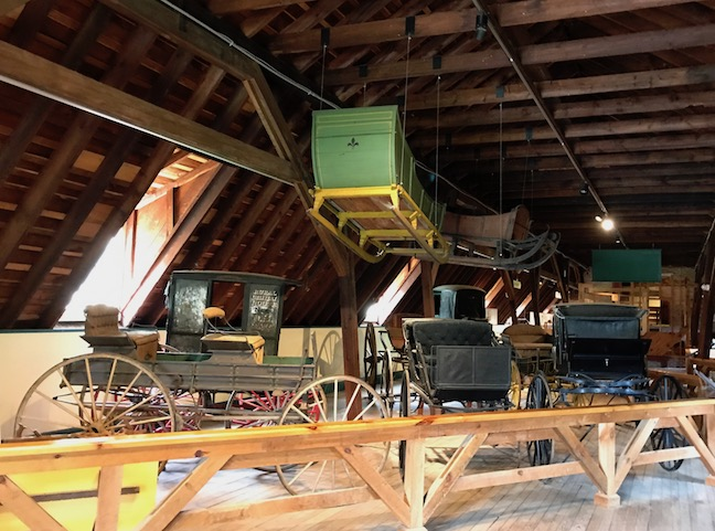 The sleighs and carriages are still on display, just upstairs now