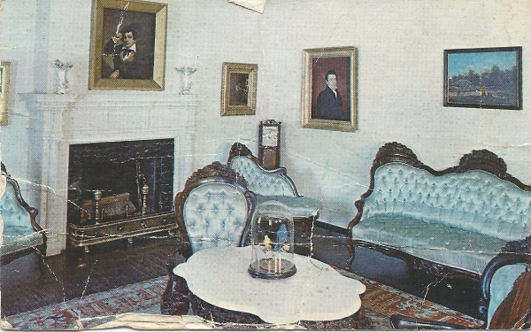 Belter Parlor Suite in one of the rooms at the Fenimore House, circa. 1970