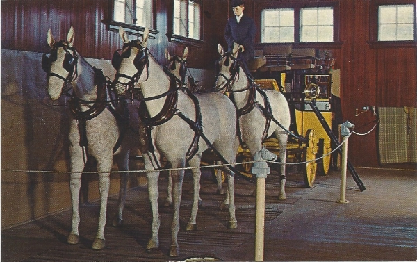 Tally Ho display at the Carriage and Harness Museum 1970