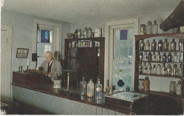 Vintage Postcard of the Apothecary