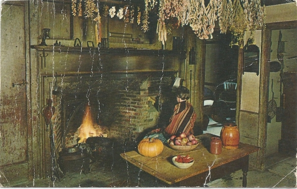 Vintage Postcard Interior of the Lippitt farmstead