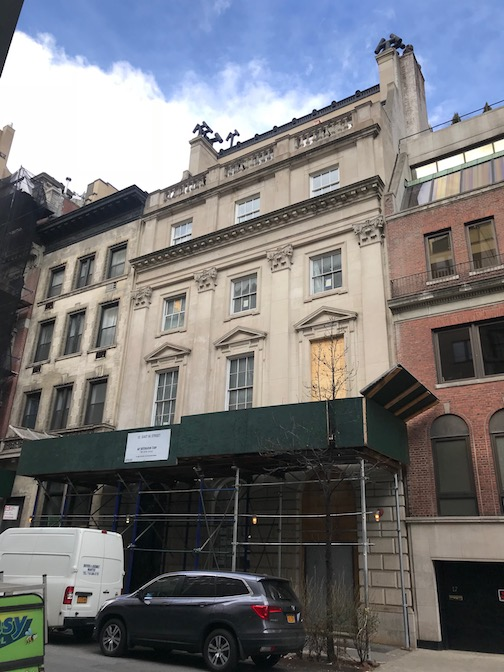 13 East 66th st is currently undergoing a complete gut renovation - perhaps to be converted back into a single family residence for one of today's billionaires?