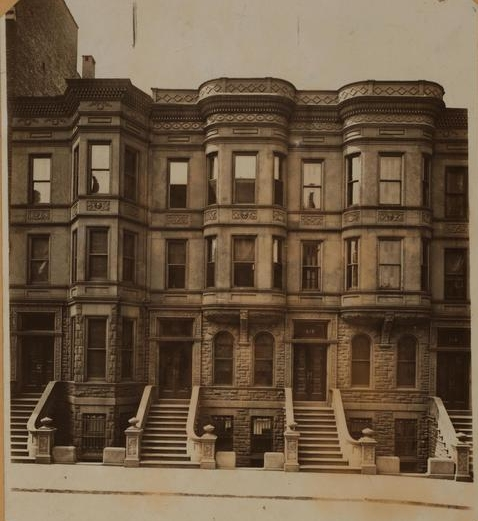 Row of Brownstones on West End Avenue, most likely similar to those owned by the tianic's Upper West side residents