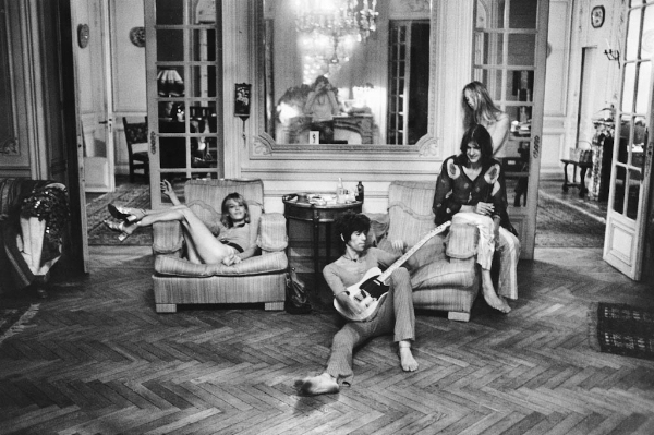 Interior of Villa Nellcote during the Rolling Stones occupancy
