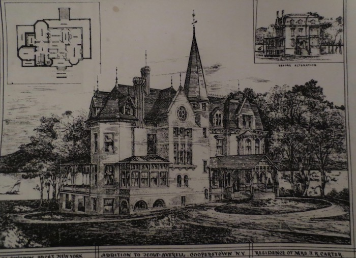 H M Congdon's proposed addition, with original villa shown upper right