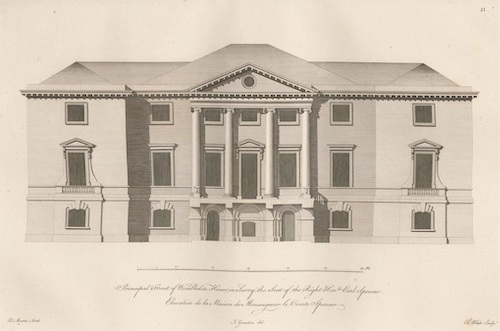 An early drawing of Sarah's Wimbledon Park House