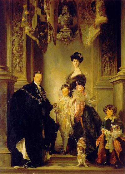 A 1905 painting of the Duke and Duchess of Marlborough (née Consuelo Vanderbilt)