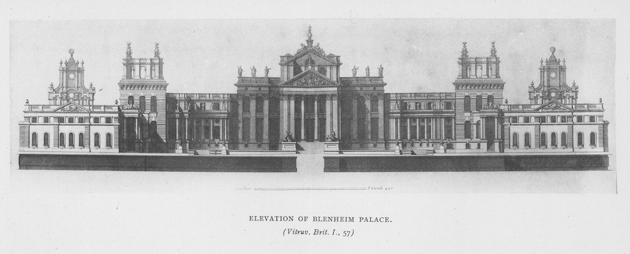 architectural drawing of Blenheim Palace