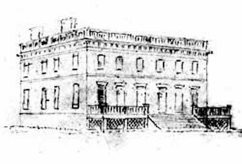 The River facade of Chateau de Montgomery