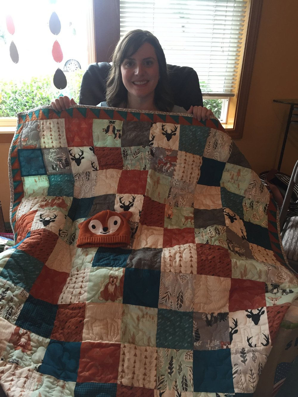 We were given many thoughtful gifts, including this amazing quilt from Talley!