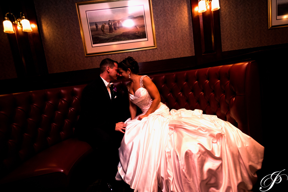 A moment shared between husband and wife at Old York Country Club in Ambler, PA