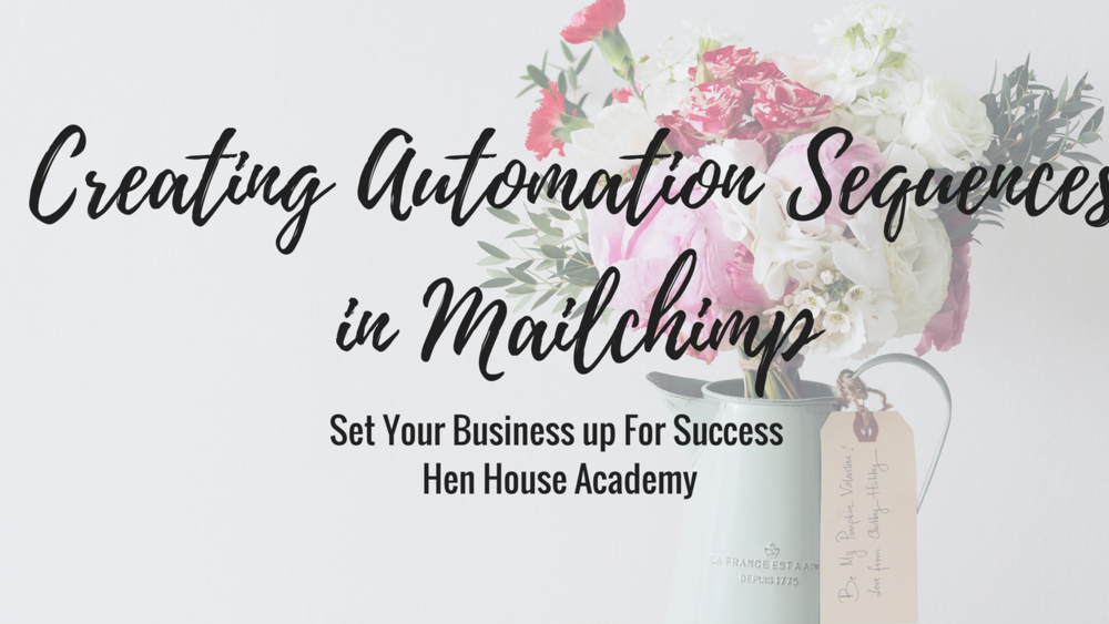 Creating Automation Sequences in Mailchimp