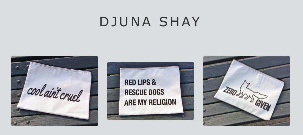 Djuna Shay + The Little Foxes Makeup Bags - $28