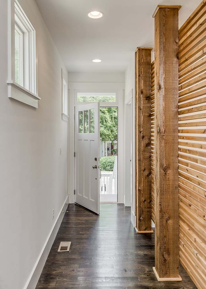 House-Plans-Online-Duplex-Nashville-Peggy-Newman-Entry-Wood Slat-Wall-Free Standing-Douglas.jpg