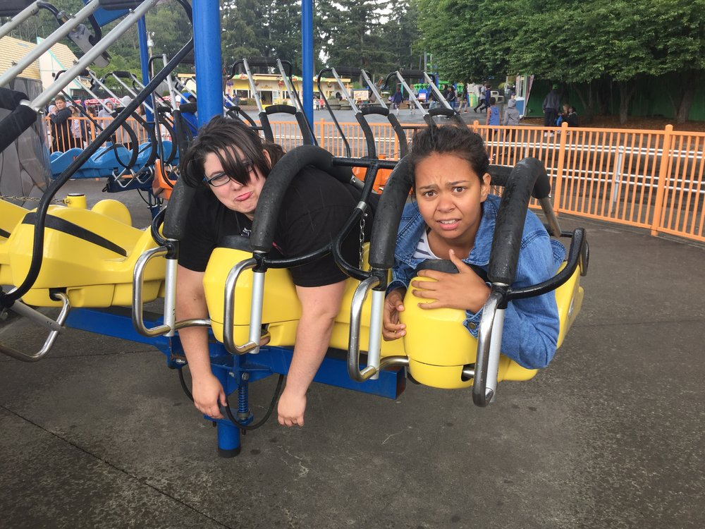 Uh oh! Looks like a couple of us got stuck on a ride at Wild Waves!