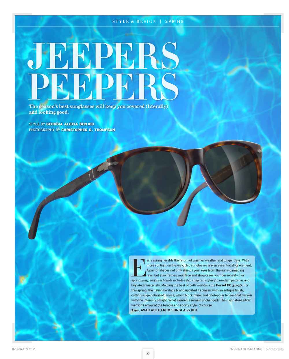 Sunglasses for Inspirato Magazine