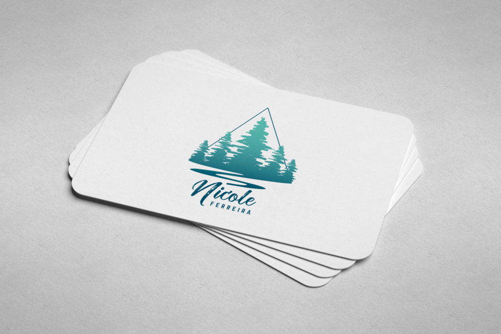 She wanted her love of the outdoors to be the main focus and loved the contrast of script and sans-serif typefaces. We kept the color palette light and natural and used the shape of a triangle to anchor her values and skills.