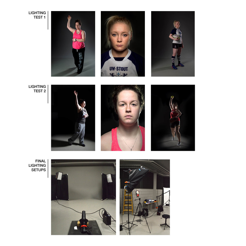 There were several trips to the studio where I dialed in the technical aspects of shooting. I tested different lighting scenarios and used feedback from classmates to nail down the final look and feel.