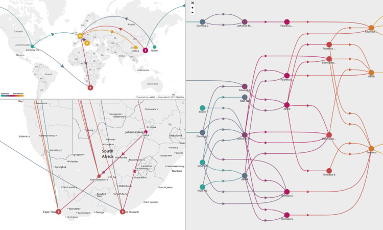 GEOGRAPHIC AND NETWORK VISUALIZATIONS OF THE END-TO-END SUPPLY CHAIN FOR A CATALYTIC CONVERTER - sourcemap.com