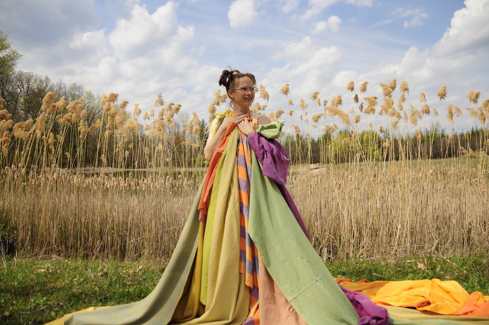 Heather chaplet holding  Xoomba  textiles