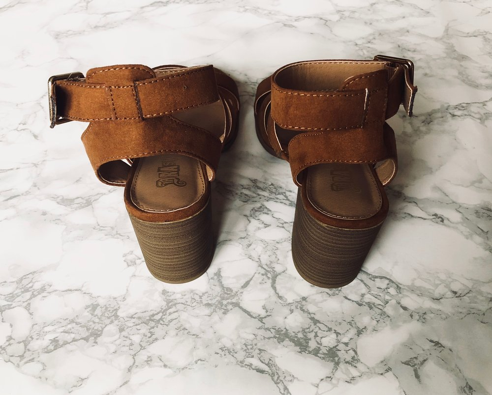 aa0949be7342 These brown sandals were  16.99. I only have one other brown sandal in my  wardrobe that could be dressed up or down for the summer