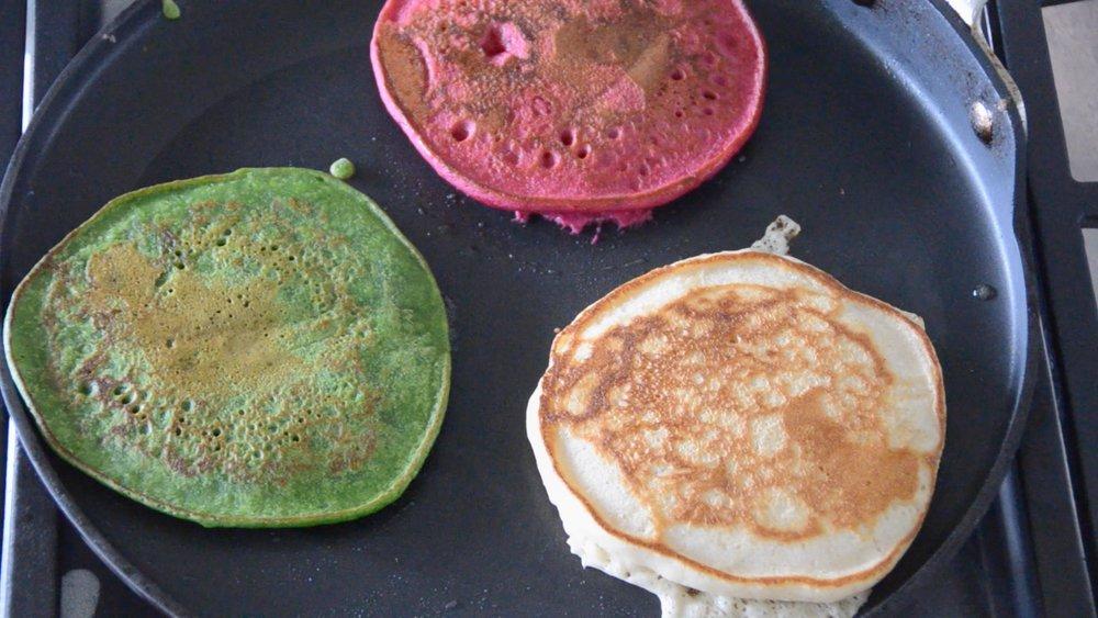 Making sassy pancakes!