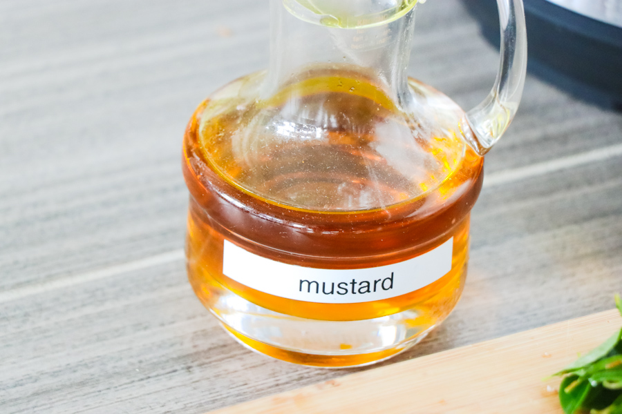 mustard oil - an essential in north and eastern Indian cuisines