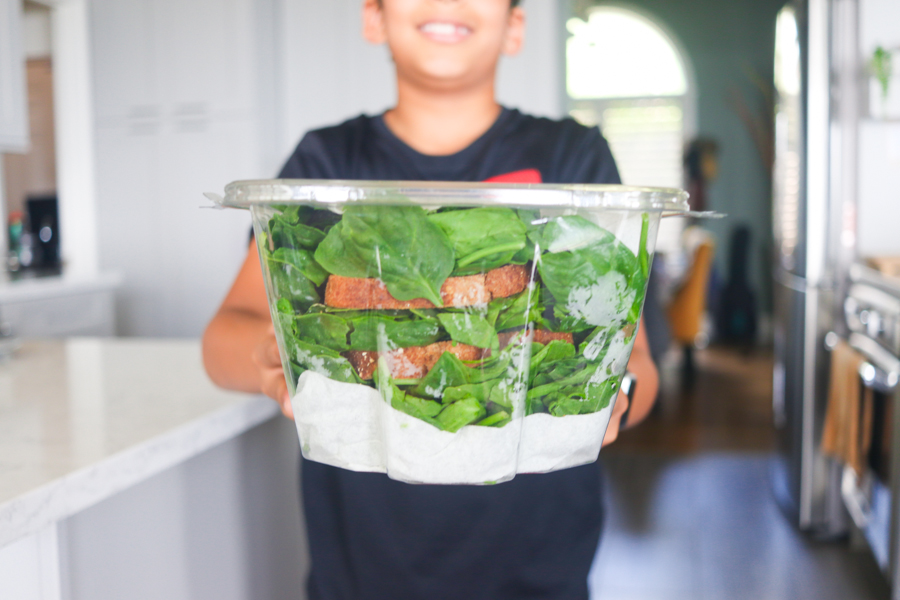 storing fresh spinach