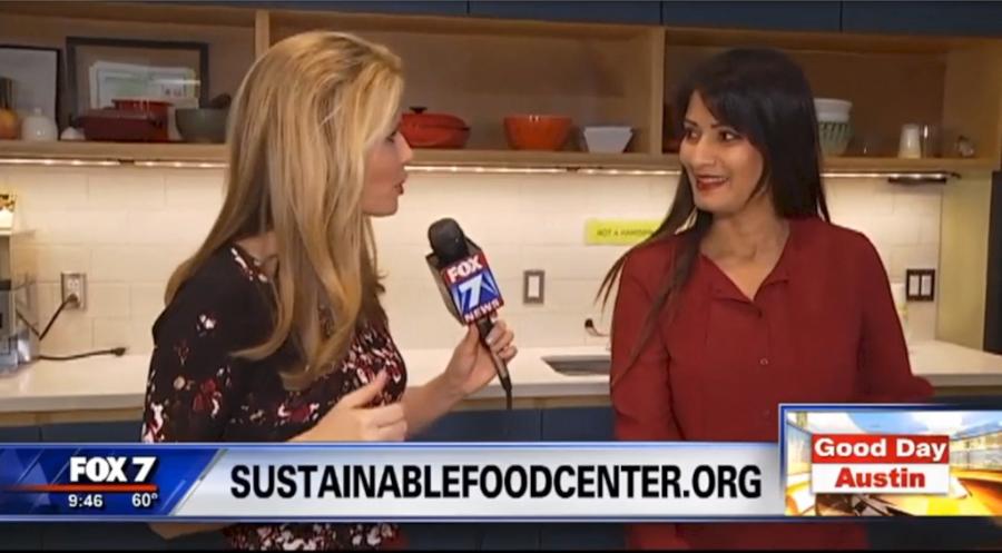 Hema Reddy on Fox 7 Making Savory Oatmeal