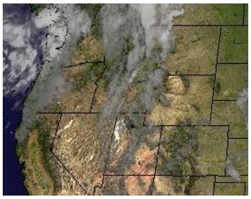 Water Vapor Composite Satellite Shot at 1200 Saturday