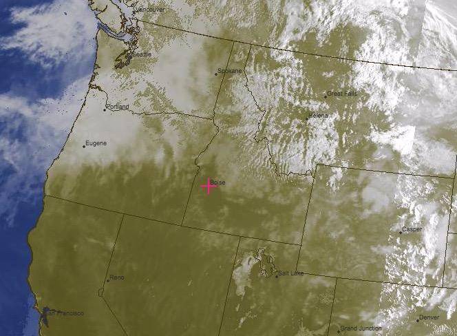 Composite VIS/IR Satellite Image Valid at 1730 Thursday: