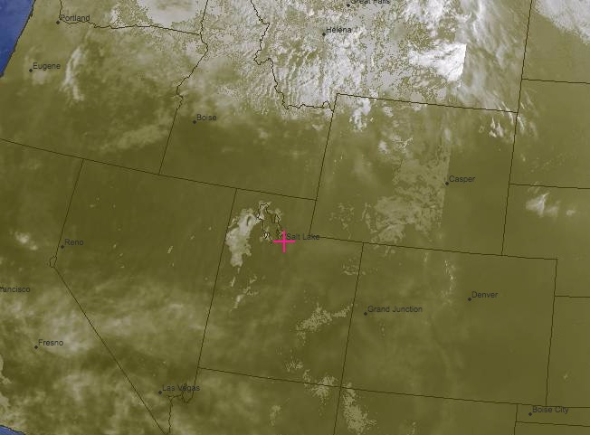 Composite VIS/IR Satellite Image Valid at 1730 Friday: