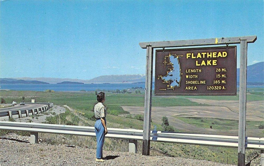 Flathead Lake, Montana.  The start line