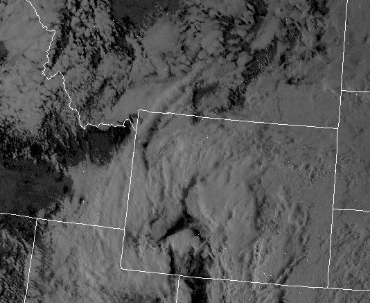 Visible Satellite Shot at 11:16 Sunday