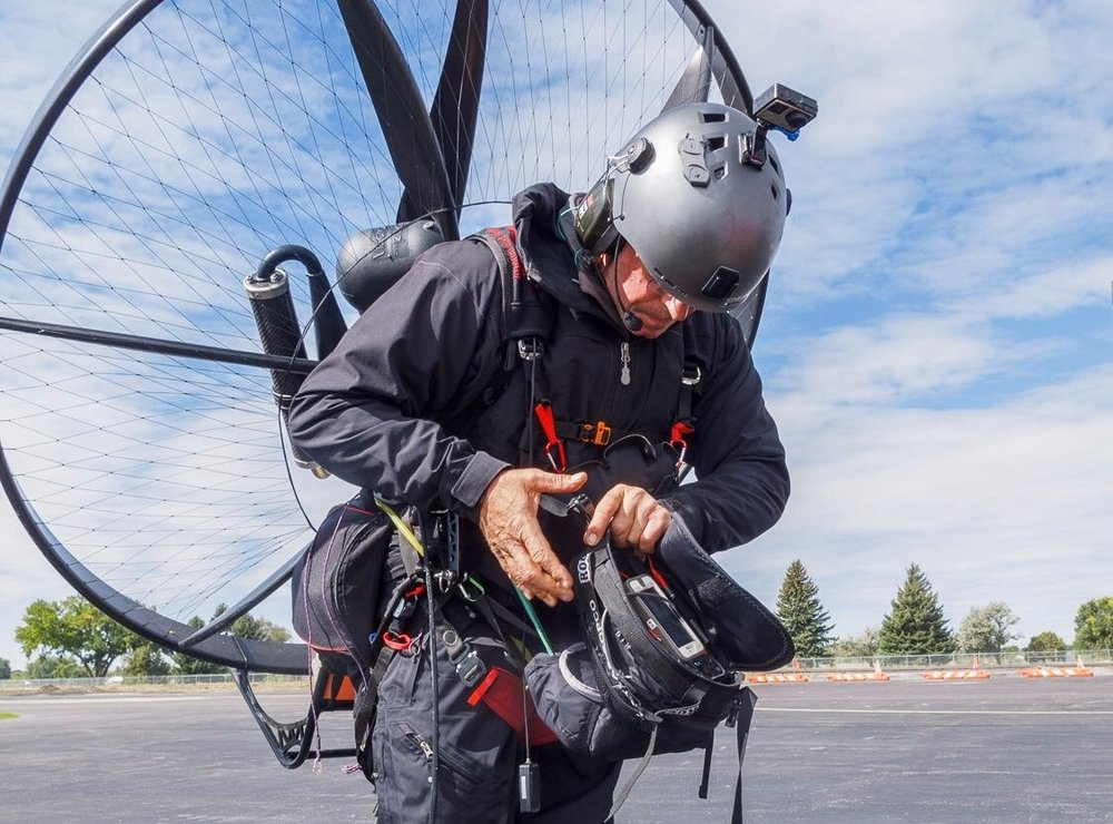 """you know this paramotor thing is a lot less fun with all the extra bullshit!"""