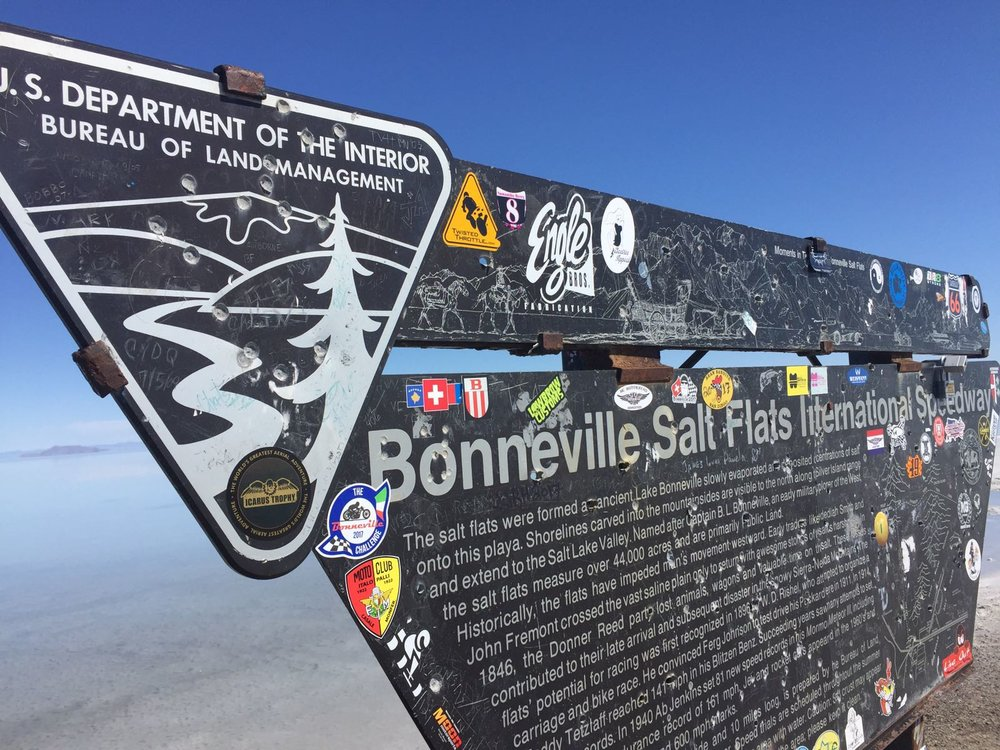 The Bonneville Salt Flats get tagged