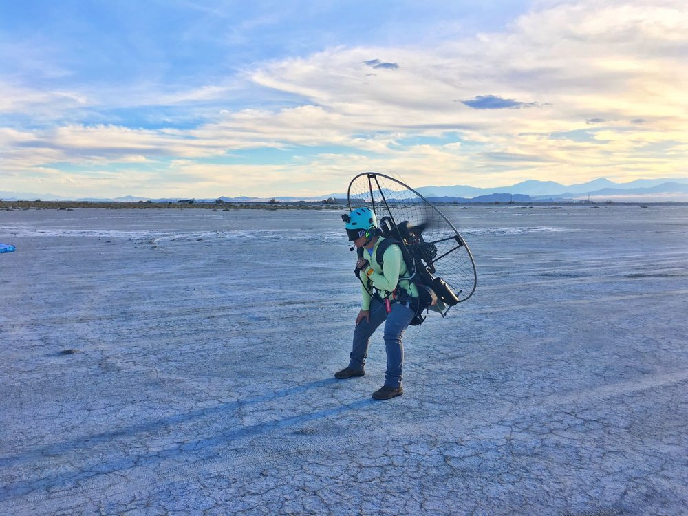 Prepping to fly the salt flats