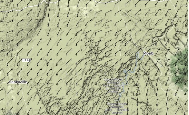 Surface Winds at 10:00