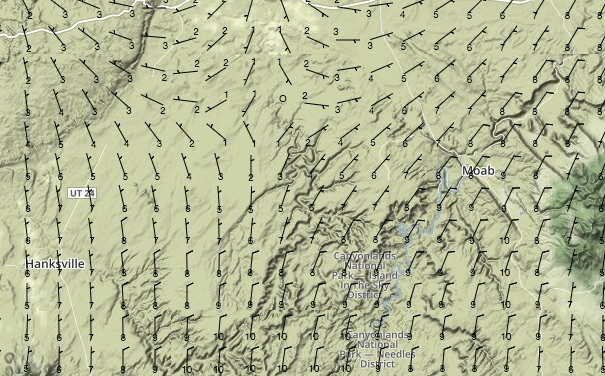 Surface Winds at 18:00