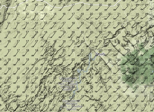Surface Winds at 14:00