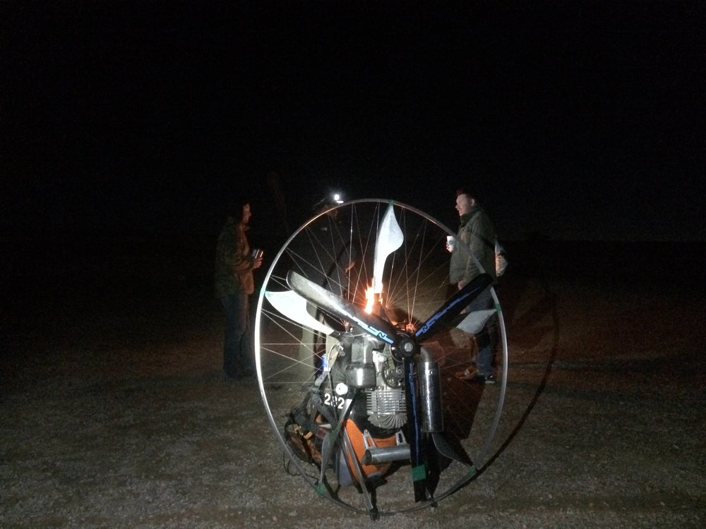 Tales around the campfire and celebrations into the night. Moab UT. All pilots across the finish line, and in once place for the first time since embarking on their epic journey, 1000 miles ago.