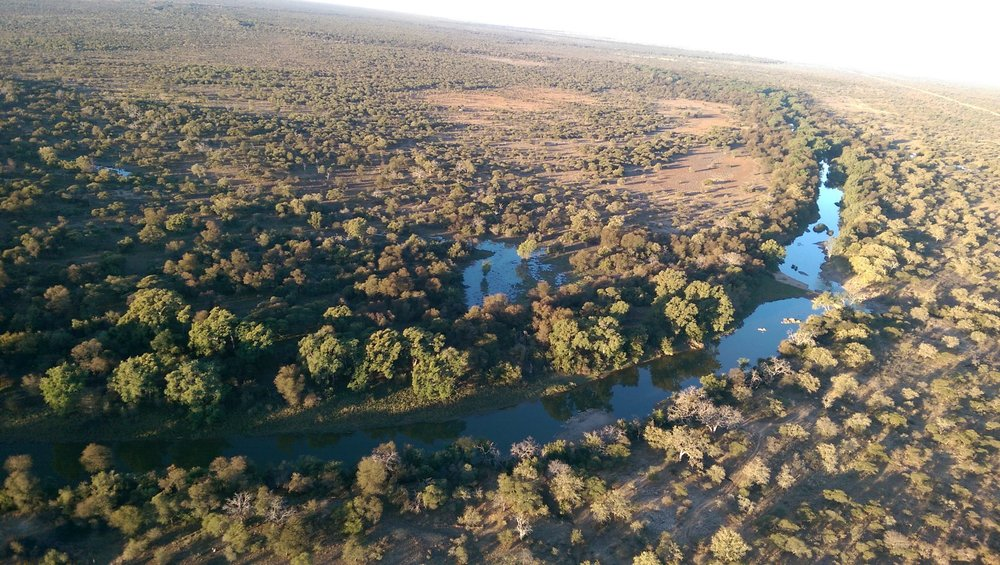 The Limpopo River marks the border between South Africa and Botswana