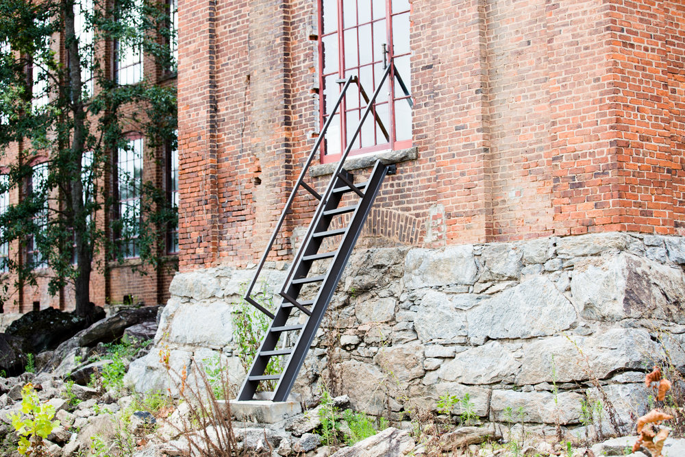 The ladder you climb down to get to the river!