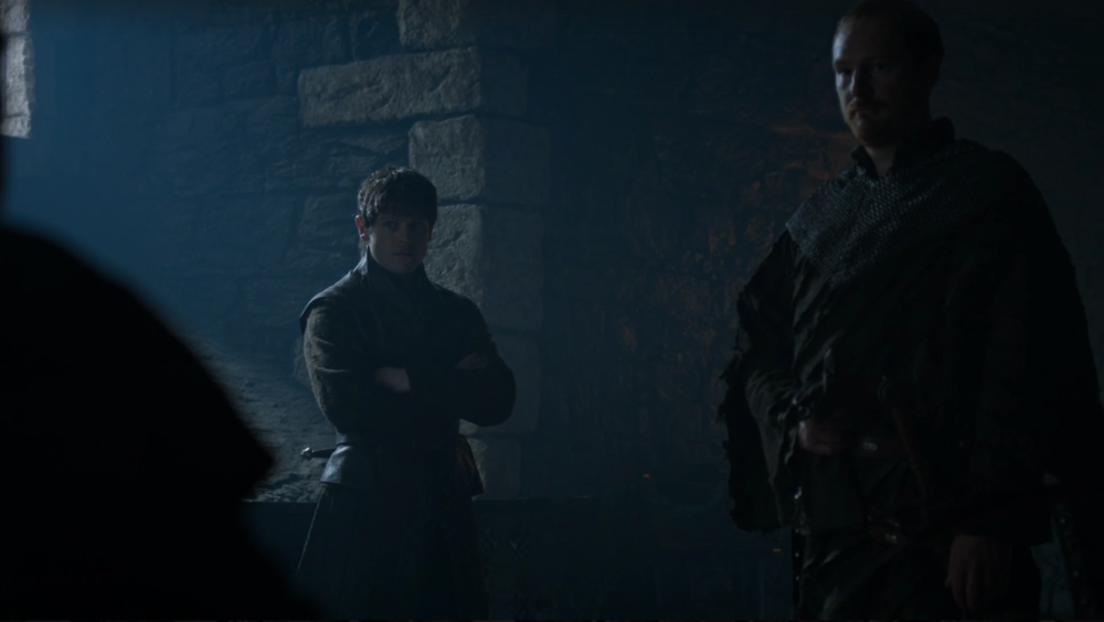 Ugh, I'm SO going to stab you for embarrassing me in front of my Karstark friend.