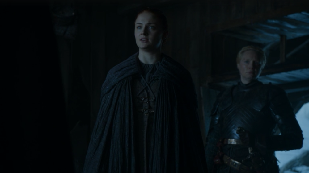 """I don't believe you anymore. I don't need you anymore. You can't protect me. You wouldn't even be able to protect yourself if I tell Brienne to cut you down."""