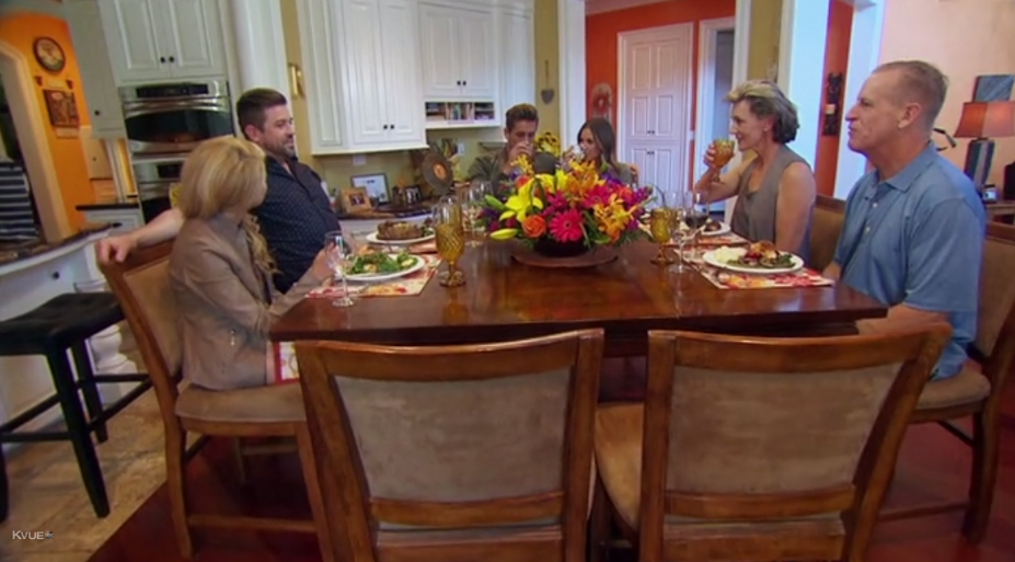 Ah yes, eight chairs for six people. Do they always set out two more than they expect to actually show up? Sloppy work, ABC.
