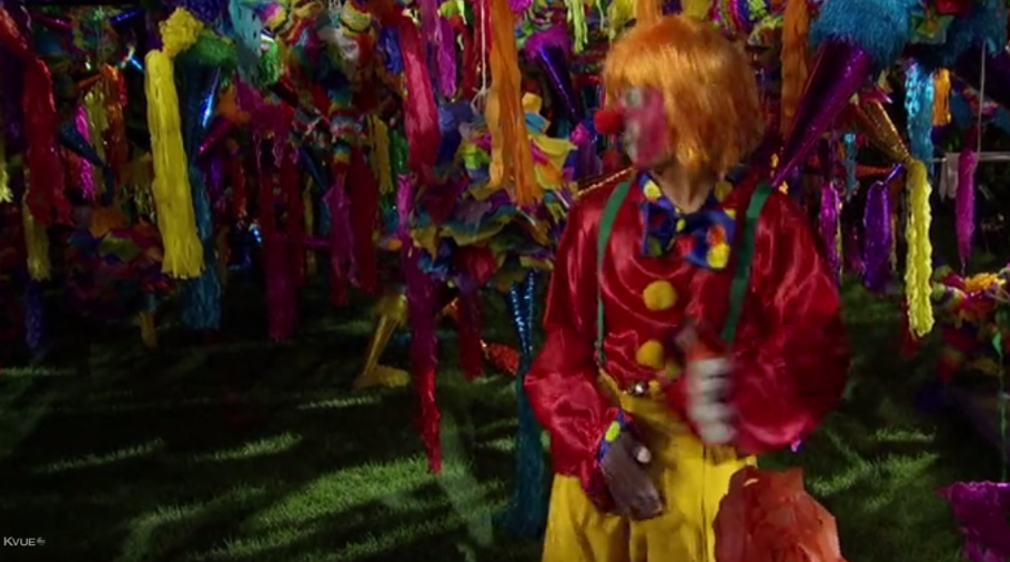 A terrifying voiceless clown miming sexual intercourse. Thanks a lot, Bachelor in Paradise.