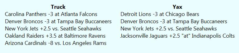 NFL Picks Week 4