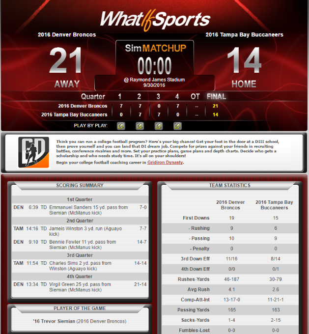 NFL Picks Week 4 Denver Broncos Tampa Bay Buccaneers