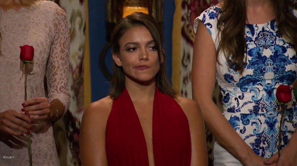 "Maybe it's an honest display of emotion, but the ""I'm having trouble remembering why I'm here face"" doesn't play well on the Bachelor."